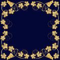 Gold frame from grapevine Royalty Free Stock Photo