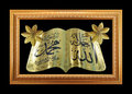 Gold frame and islamic writing Royalty Free Stock Photo