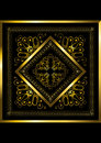 Gold frame with openwork ornament Royalty Free Stock Photo