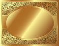 Gold frame with pattern and place for text Royalty Free Stock Image