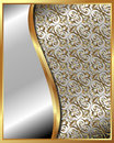 Gold frame with pattern and place for text for your design Royalty Free Stock Photo
