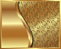 Gold frame with pattern and place for text for your design Royalty Free Stock Image