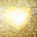 Gold frame in the shape of heart. EPS 8 Royalty Free Stock Images