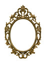 Gold frame vintage isolate background Royalty Free Stock Photography
