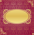 Gold frame in vintage style Stock Photography