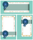 Gold-framed labels Royalty Free Stock Photography