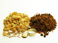 Gold, frankinsence and myrrh Royalty Free Stock Image
