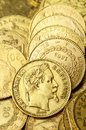 Gold french coin, Napoleon Royalty Free Stock Photo