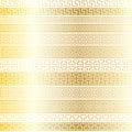 Gold fretwork borders border pattern stripes Royalty Free Stock Photos