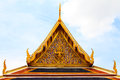 Gold gable of thai temple Stock Image