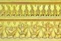 Gold Garuda and buddha statues Royalty Free Stock Photos