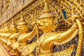Gold garuda in temple grand palace bangkok thailand Stock Images