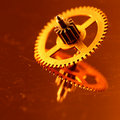 Gold gear Stock Photography
