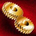 Gold Gear Royalty Free Stock Photography