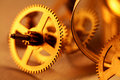 Gold gears Royalty Free Stock Image