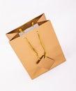Gold gift bag Royalty Free Stock Photo