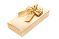 Gold gift box Royalty Free Stock Photography