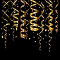 Gold glitter background with sparkle shine light confetti.