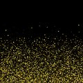 Gold glitter background with sparkles on white background. eps 10