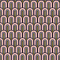 Gold glitter, black and white fish scale geometric seamless pattern background Royalty Free Stock Photo