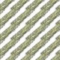 Gold glitter diagonal stripes on a white background, seamless endless pattern