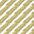 Gold glitter diagonal stripes on a white background, seamless endless pattern