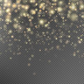 Gold Glitter Particles Effect....