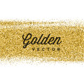 Gold Glitter Sparkles Bright Confetti Vector Background. Royalty Free Stock Photo