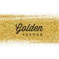Gold Glitter Sparkles Bright Confetti Vector Background. Royalty Free Stock Photo