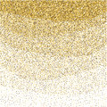 Gold glitter sparkling pattern. Decorative shimmer background. Shiny glam abstract texture. Sparkle golden confetti backdrop. Luxu