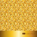 Gold glitter texture sparkling shiny paper background for celebration Christmas holiday seasonal wallpaper decoration Royalty Free Stock Photo