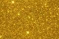 Gold Glitter Texture Surface