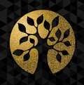 Gold glitter tree of life concept symbol art