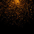 Gold glittering bokeh stars dust Royalty Free Stock Photo