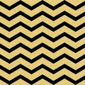 Gold glittering chevron wave seamless pattern. Classic zigzag template. EPS 10