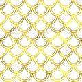 Gold glittering foil seamless pattern Royalty Free Stock Photo