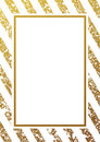 Gold glittering seamless lines pattern on white background
