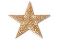 Gold glittery star Royalty Free Stock Images