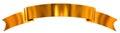Gold glossy ribbon as banner