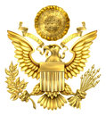 Gold Great Seal of the United States Royalty Free Stock Photo