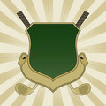 Gold and Green Golf Shield Royalty Free Stock Photo