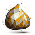 Gold And Grey 3D Vector Abstra...