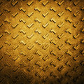 Gold Grunge Rusty Steel Floor Plate Royalty Free Stock Images