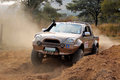 Gold gwm steed on x course bafokeng – may going through obstacle at new track opening event may at bafokeng rustenburg south Stock Images