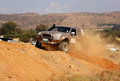 Gold gwm steed on x course bafokeng – may scaling steep sand hill obstacle at new track opening event may at bafokeng rustenburg Stock Photography