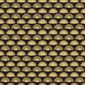 Gold hand fan seamless pattern design. Abstract geometric fans texture