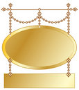 Gold Hanging Sign Royalty Free Stock Photos