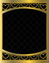 Gold heart patterned background 10 Stock Photography