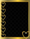 Gold heart patterned background 4 Stock Photography