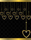 Gold heart patterned background 5 Stock Photos